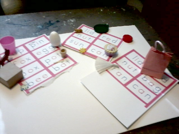 Montessori Pink words set 2