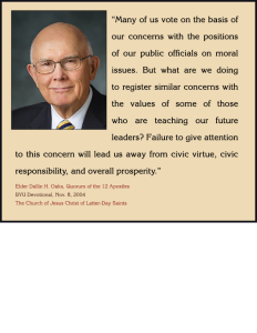 Elder Dallin H. Oaks civic education