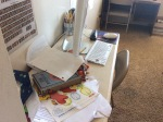The desk in the homeschool room.